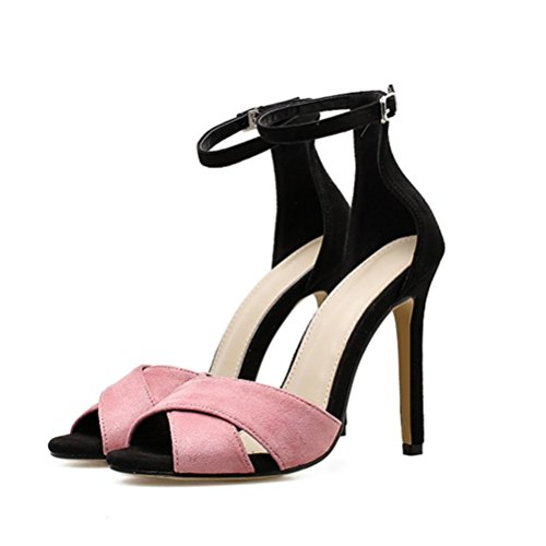 16a1a510d6df5e vermers Fashion Women Sandals - Summer Sexy Party Shoes Pink Concise High  Heel Sandals