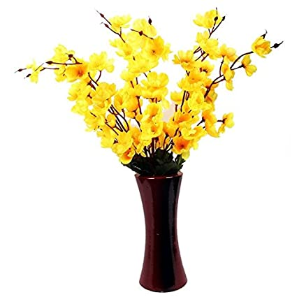 Buy a2z street yellow orchids artificial flowers with wooden vase a2z street yellow orchids artificial flowers with wooden vase mightylinksfo
