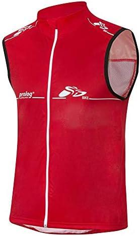 prolog cycling wear Windweste Fahrrad Herren Weste mit Zero Wind Softshell Veredelung in der Front in Rot XS, S, M, L, XL, XXL, XXXL, XXXXL