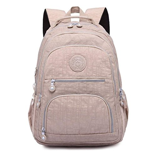 Daypack Purse Laptop Backpack School for Lightweight Women Bag Waterproof Travel Khaki PdEqtHIxdn