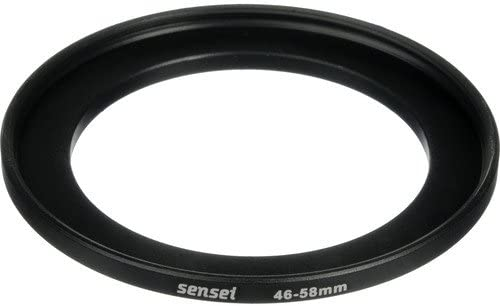 2 Pack Sensei 46mm Lens to 58mm Filter Step-Up Ring
