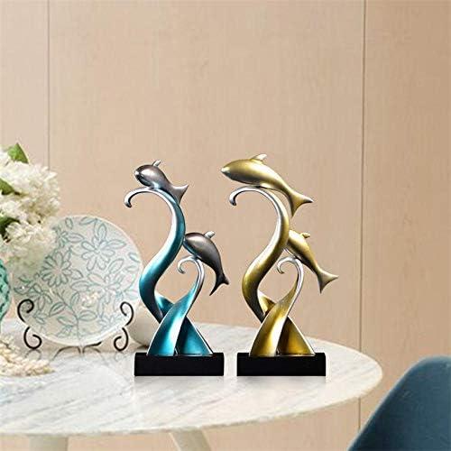 Figuras Decorativas Estatuas Arte Escultura De Peces Adornos 4