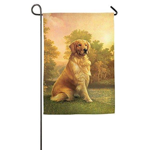 (Golden Retriever 12 X 18 Prime Garden Flag For Springtime Seal Garden Yard Flag)
