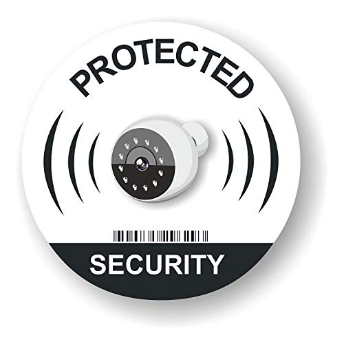 8 IP Camera Surveillance Stickers Signs - Intruder Alarm Warning Security Stickers - Internal or External use - 3.7 inch