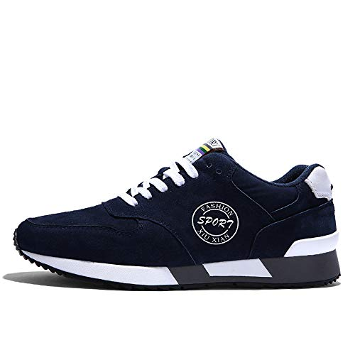 da Classica Ginnastica Basse Stringata 44 38 Uomo Sneaker Casual Scarpe Sportive Blu da qaw48qd