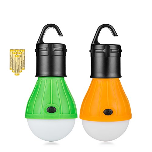 Coquimbo 2 Pack Protable LED Lantern Tent Lamp Waterproof 150 Lumens Camping Lantern for Hiking, Fishing, Hurricane Emergency Light, Battery Powered Camping Lamp with 6 AAA Batteries