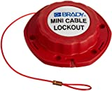 Brady Mini Cable Lockout, 1/16'' Diameter, 8' Length, Nylon Cable