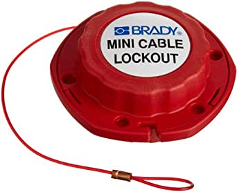"Brady Mini Cable Lockout, 1/16"" Diameter, 8' Length, Nylon Cable"