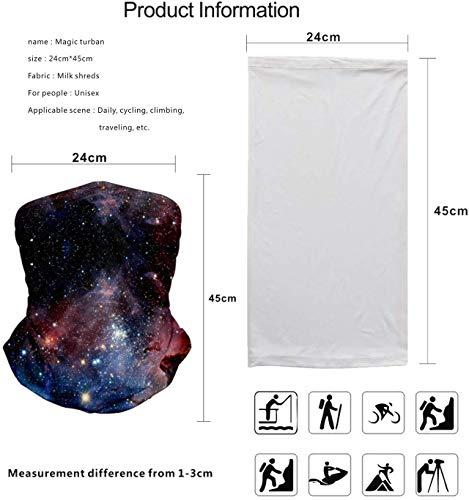 MandWot 1+1 2Pcs Starry sky Bandanas Scarf Masks Face Neck Gaiter Headwear 9.8″×17.7″