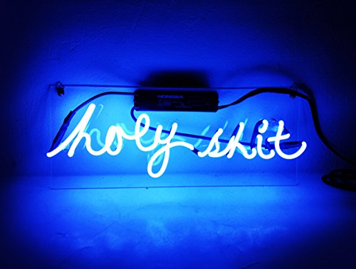 Led Beer Neon Sign Blue Light Sculpture 'Hoey Shit' for Bar Pub Billards Home Hotel Beach Cocktail Recreational Game Room 15