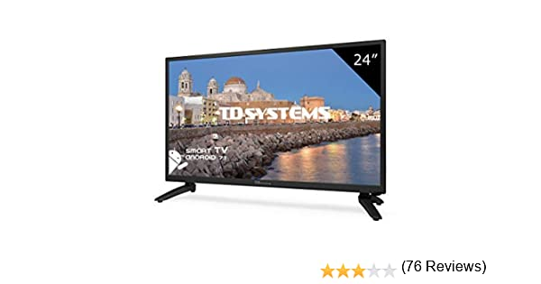 Televisor Led 24 Pulgadas Full HD Smart, TD Systems K24DLH8FS. Resolución 1920 x 1080, HDMI, VGA, 2X USB, Smart TV.: Amazon.es: Electrónica