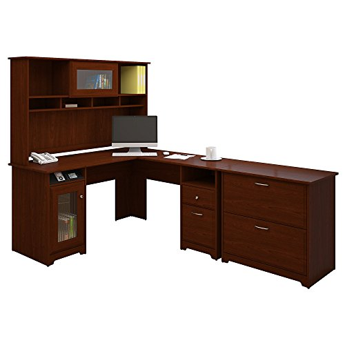 Cabot L Shaped Desk with Hutch and Lateral File Cabinet - Filing Cabinet Hutch