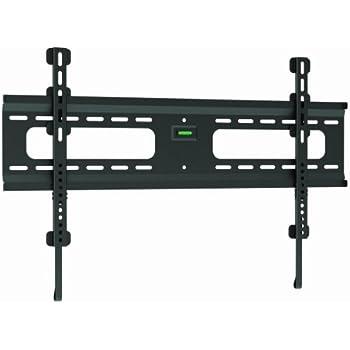 ultra slim black flat fixed wall mount bracket for samsung un65f7100 65 inch led. Black Bedroom Furniture Sets. Home Design Ideas