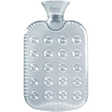 Fashy Clear Cushion Rubber Hot Water Bottle1.2L - Made in Germany