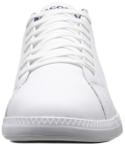 Lacoste Herre Oppgradere Lcr3 Mote Sneaker Hvit / Mørk Blå