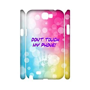 WEUKK Don't touch my phone Samsung Galaxy Note2 N7100 3D cases, personalized phone case for Samsung Galaxy Note2 N7100 Don't touch my phone, personalized Don't touch my phone cover case