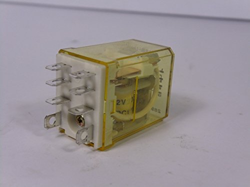 Indec RH2B-U-DC12V Plug-In Relay 10A 12VDC: Amazon.com ... on idec relay rh1b ul, idec rh1b-u, idec control relay, idec relay base,