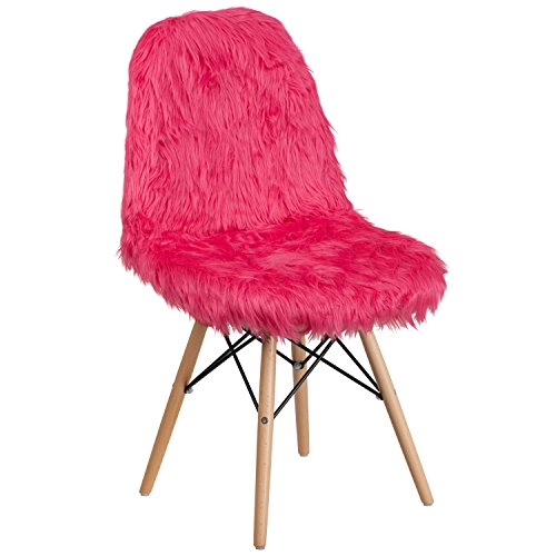 Flash Furniture Shaggy Dog Hot Pink Accent Chair (Chair Hot Pink)