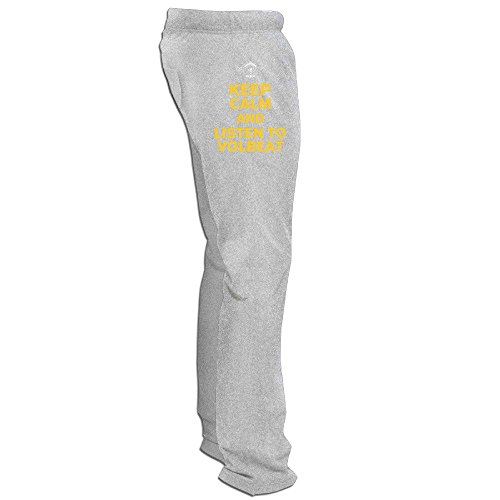 Yesher Men's Keep Calm And Listen To VB Long Workout Pants - Ash L (Platinum Ninjago compare prices)