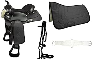 Warehouse Clearance Sale Tahoe Easy Ride Pleasure Trail Riding Western Saddle Set - 6 Items