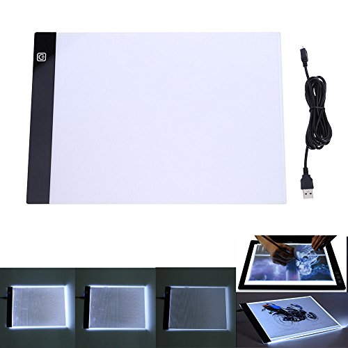 A4 LED Light Box Drawing Board - BESTGIFT Tracing Board USB Power Ultra-Thin Digital Tablet Brightness Adjustable Pad Copy Table for Artist by BESTT (Image #7)'