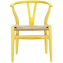Poly and Bark Wegner Wishbone Style Chair, Yellow