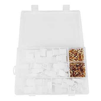 Kits de conector de terminales de cable eléctrico, 2.8mm 2 3 4 6 Pines Enchufe de la caja del conector Encabezado Crimpado, Surtido de conector de terminal de bala: Amazon.es: Industria, empresas y ciencia
