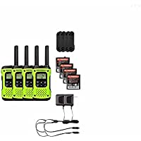 Motorola FRS/GMRS T600 Two-Way Radios / Walkie Talkies - Rechargeable & Fully Waterproof 4 PACK