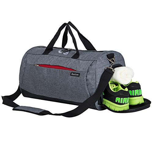 Sports Gym Bag with Shoes Compartment Travel Duffel Bag for Men and Women by Kuston (Image #7)