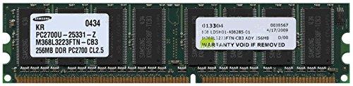(256MB PC2700 DDR333 1Rx8 Unbuffered nonECC 184-pin DIMM (p/n ADY))