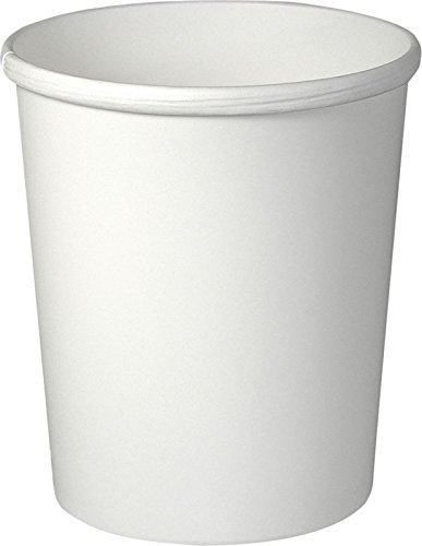 SOLO H4325-2050 Flexstyle Double-Sided Poly Paper Food Container, 32 oz. Capacity, White (Case of 500) by Solo Foodservice