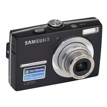 Samsung L200 10MP Digital Camera with 3x Optical Zoom (Black)
