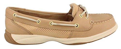 Women's Sperry, Laguna Boat Shoes LINEN SPARKLE 6.5 M