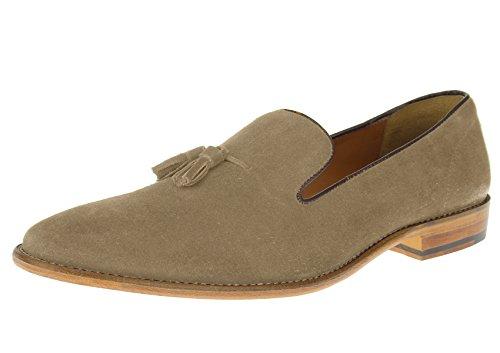 Luciano Natazzi Mens Slip-On Full Leather Tassel loafer Dress Shoe