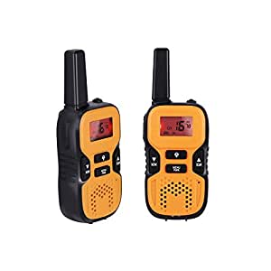 GHB Walkie Talkies Kids Two Radio 22 Channel FRS/GMRS 2.5 Miles up to 4 Miles for Activities Orange