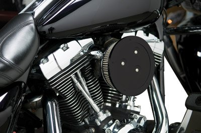 Arlen Ness 18-389 Black Big Sucker Derby Cover Air Filter Kit