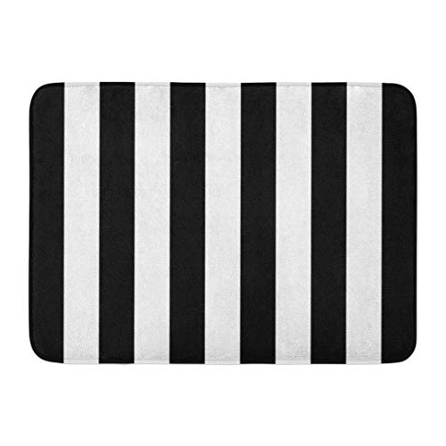 SPXUBZ Simple and Classic Black White Striped Non Slip Entrance Rug Outdoor/Indoor Durable and Waterproof Machine Washable Door mat Size:23.6x15.7 inch ()
