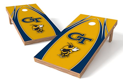 Wild Sports NCAA College Georgia Tech 2' x 4' V Logo Authentic Cornhole Game Set