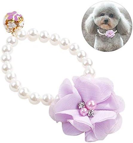 KAILLEET Accesorios Collar de Perlas Princesa Pet for Cachorros ...