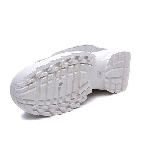 Pelle Stringate Sneakers h811 Lucida Argento Ginnastica para da MForshop Eco Donna Scarpe Lacci SAR8BqBY