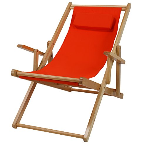 Casual Home Sling Chair, Orange Canvas