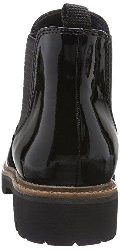 Black Pat comb 25412 059 Bottes Marco Femme Noir Chelsea Tozzi wY0C8xqf