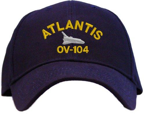 71e8a52ce7006 Space Shuttle Atlantis OV-104 Embroidered Baseball Cap - Navy Blue