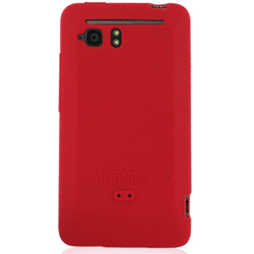 PDair Luxury Silicone Case for HTC Velocity 4G X710s (Red)