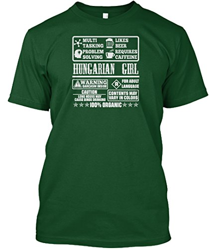 (Hungarian Girl 100 Organic Tshirts Tshirt - 3XL - Deep Forest - Hanes Tagless Tee)