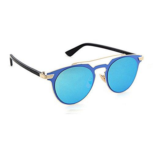 Voiture en Soleil Couleur pour Les Les Bleu Protection pour Blanc Classique Plage Lunettes des d'été Hommes Protection Godbb Yeux de en Vacances Fashion métal UV Shades qwnT8gI6X