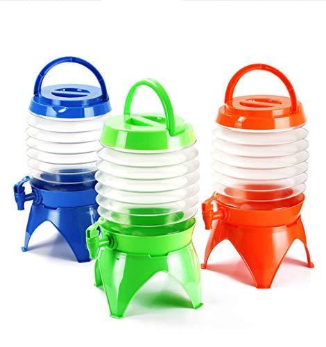 ADS Outdoor Camping Telescopic Folding Storage Bucket Multi-Function Drinking Water Bucket 5L Car Portable Beer Barrel,Orange,5L