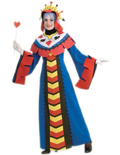 Rubie's Costume Co Playing Card Queen Costume, Large (Casino Themed Fancy Dress Costumes)