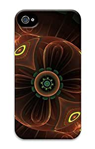3D PC Back Case Cover for iPhone 4 DIY Custom Hard Shell Skin for iPhone 4 With Ball Flowers