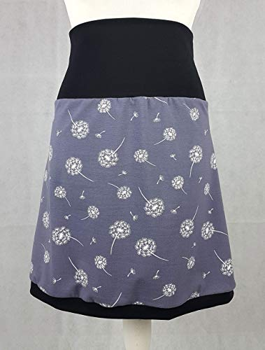 Rock Pusteblumen dandelion handmade elastisch S M L XL XS Jersey Löwenzahn DIY